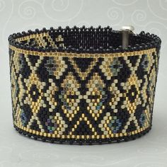 Peyote Bracelet Pattern 202b Bead Weaving INSTANT par AllYouCanBead                                                                                                                                                                                 Plus