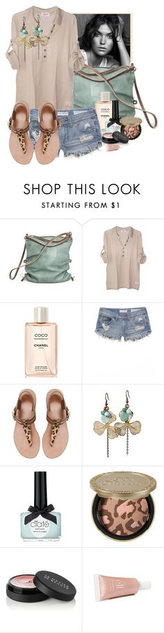 """""""Something Nude"""" by shereexoxo ❤ liked on Polyvore featuring NIC+ZOE, Ina Kent, Fogal, Chanel, Bullhead Denim Co., Zara, Truffles Co., Ciaté, Too Faced Cosmetics and Le Métier de Beauté"""