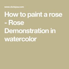 How to paint a rose - pink botanical rose study in watercolor. Step by Step rose Demonstration. Free tutorial and art instruction on painting roses Rose Step By Step, Watercolor Rose, Your Paintings, Art Lessons, Painting & Drawing, Drawings, Pink Watercolor, Color Art Lessons, Sketches