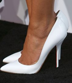 Naya Rivera Photos - Actress Naya Rivera (shoe detail) attends the premiere of Warner Bros. Pictures' And Legendary Pictures' at TCL Chinese Theatre on April 2013 in Hollywood, California. - Premieres in Hollywood 2 White High Heels, White Pumps, Sexy High Heels, High Heels Stilettos, Stiletto Heels, Sexy Legs And Heels, Hot Heels, Nylons, Beautiful High Heels
