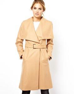 adcdd2851253 Coat with Big Collar and Belt Winter Coats Women, Coats For Women, Sweater  Jacket