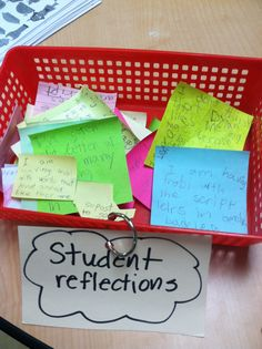Have students share inner proud moments or concerns privately on post it notes