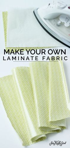 Make your own laminate fabric for those projects that might get a little messy. … Make your own laminate fabric for those projects that might get a little messy. With a few simple tricks, you can stitch up any laminated project! Sewing Hacks, Sewing Tutorials, Sewing Tips, Sewing Crafts, Sewing Basics, Bag Tutorials, Sewing Ideas, Learn To Sew, How To Make