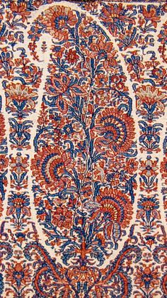 Buta on Kashmir Shawl. Early Mid Century Kashmir Paisley Shawl and its Enduring Contribution to the Paisley Motif Indian Patterns, Textile Patterns, Textile Prints, Textile Design, Textile Art, Lino Prints, Block Prints, Indian Prints, Indian Textiles