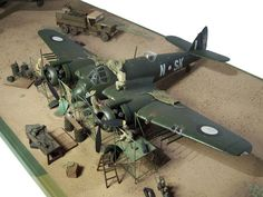 Beaufighter Mk.21 Diorama by Phil Pietsch (Revell 1/32)