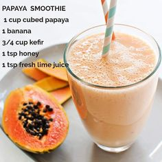 You Want to Know How to Lose Weight With Smoothies ? 🌹 🥑Who knew that drinking 2 smoothies per day could bring so many #health benefits?! And in ONLY 21 DAYS! 💁♂ - 🔃Repeat for 21 days to lose up to 20 lbs (9 kg) 🔥 cleanse your body and improve your energy, digestion, and skin. ✨ Tofu Smoothie, Papaya Smoothie, Smoothie Ingredients, Smoothie Recipes, Stevia, Good Smoothies, Fresh Lime Juice, Calories, Kefir
