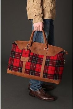 Pendleton...LOVE this satchel in leather and  plaid