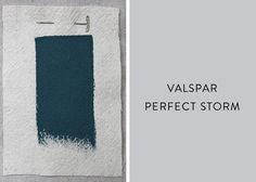 Valspar's Perfect Storm is a match for the dark teal we've admired on many an Indian embroidery.