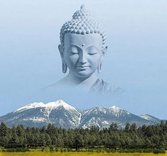 buddha on the mountains