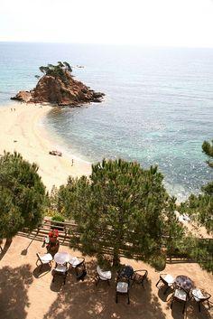 "España : Cataluña, Costa Brava, Platja d'Aro, hotel Silken San Jorge : "" playa 1 "" by (vincent desjardins), via Flickr"