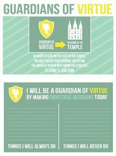 Come Follow Me: September - Commandments.  Guardians of Virtue