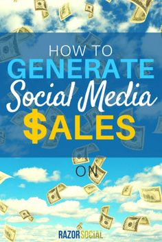 How to Generate Social Media Sales Social Media List, Social Media Marketing, Business Marketing, Online Business, Business Tips, Marketing Approach, Search Engine, Small Businesses, Coaching