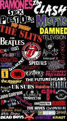 I have a old t shirt from early that had most of the punk bands on it except for the new punk & the rock bands and this isn't a gig flyer either. Rock Posters, Band Posters, Concert Posters, Rock Chic, Glam Rock, Rock Rock, Ramones, The Beatles, Rock And Roll