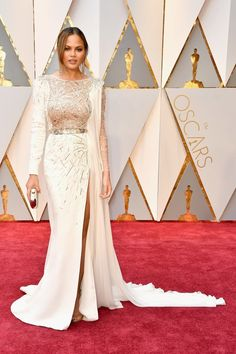 e42c2ff09be Top 10 Most Beautiful Gowns from the Oscar s Red Carpet 2017 – Chrissy  Teigen