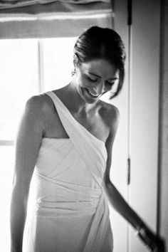 This bride's wedding dress has statuesque style: http://www.stylemepretty.com/2014/09/26/10-unique-wedding-dresses-to-swoon/