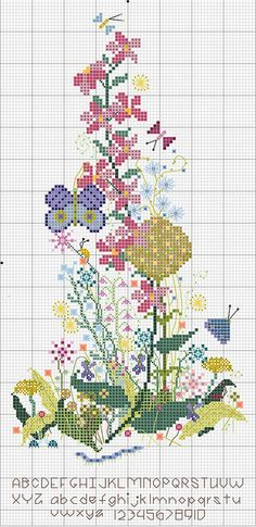 PIC   Wild ~ Flower Sampler 2011 by ruhmarie1, via Flickr.  Lots of pretty freebie charts on her blog