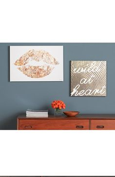 Free shipping and returns on Oliver Gal 'Wild Gold Heart' Wall Art at Nordstrom.com. Show off your wild side with a hand-stretched canvas that makes an edgy design accent.