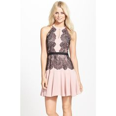 Women's BCBGMAXAZRIA 'Leyla' Fit & Flare Halter Dress and other apparel, accessories and trends. Browse and shop related looks.