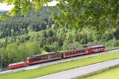 Appenzeller Bahnen (railway) between Gais and Altstätten Swiss Railways, Switzerland, Train, Beautiful, Trains, Paths, Zug, Strollers