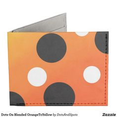 Dots On Blended OrangeToYellow Tyvek Wallet