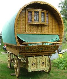 Gypsy Wagon-We traveled in something similar to this every summer of my childhood...except it was bigger and white and said CRUISE AMERICA on the side of it. Super tacky.