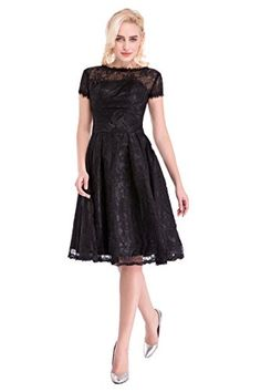 Flower Faerie Women's Vintage Short Sleeve Lace Pleated Slim Party Dresses (10) Flower Faerie http://www.amazon.com/dp/B01E58MTW4/ref=cm_sw_r_pi_dp_ivBdxb1BJR0JP
