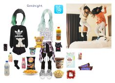 """V live ¤ Queen ¤ Yuna"" by official-toxicgrils on Polyvore featuring H&M, adidas, Elizabeth and James, Murmur, Forever 21, Cotton Candy, Aime, Palomitas by Paloma Barceló, Falke and Barneys New York"