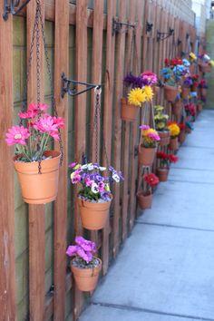 Hang Flower Pots On Fence