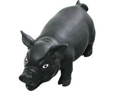 Latexschwein, 22 cm, schwarz
