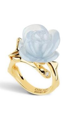 Sapphire: Direction + Independence + Confidence | flower ring; Dior