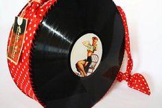artesanato com discos de vinil 001
