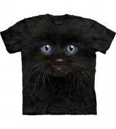Black Kitten Face T Shirt - by the Mountain