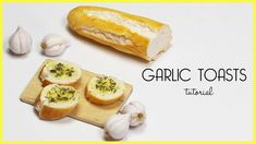 polymer clay Garlic Toasts TUTORIAL