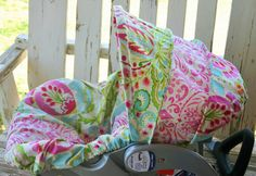 Pink and green paisley with pink and white damask Infant Car Seat Cover and Hood Cover. The hood is made to replace your old hood. The base cover is made to go over your existing cover. CAR SEAT IS NOT INCLUDED! Pink Damask, White Damask, Car Seat Accessories, Canopy Cover, Baby Grows, Seat Covers, Future Baby, That Way, Pink And Green