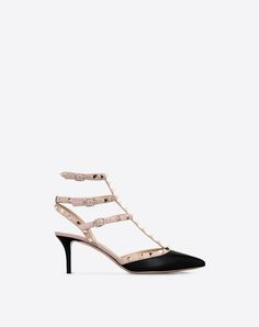 bb86196ddc4 VALENTINO GARAVANI HIGH HEEL PUMPS D Striped Rockstud Courts f Valentino  Garavani