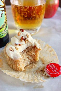 Angry Orchard Cupcakes -- Perfect for Fall!