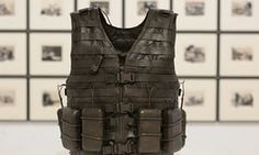 A bronze vest from the Disasters of Everyday Life by Jake and Dinos Chapman at BlainSouthern gallery in London.