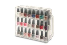 Amazing Nail Polish Case fits all brands of polish and gel polish, double sided for extra storage and can carry up to 48 polishes.
