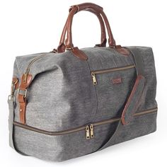 Chic Canvas Travel Tote Luggage Men s Weekender Duffle Bag with Shoe compartment. - Chic Canvas Travel Tote Luggage Men s Weekender Duffle Bag with Shoe compartment (Dark Grey) Fashio - Mens Travel Bag, Duffle Bag Travel, Travel Tote, Duffel Bag, Travel Bags For Women, Women Bags, Duffle Bag Men, Travel Chic, Travel Packing