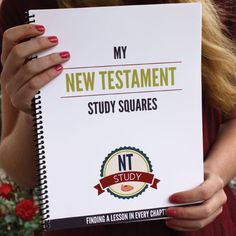 New Testament Study Squares - Spiral Bound Book