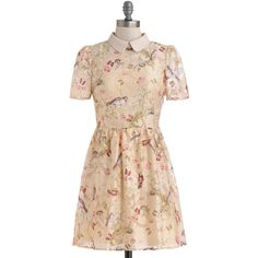 ModCloth Pastel Short Short Sleeves A-line Favorite Train Car Dress ($31) ❤ liked on Polyvore featuring dresses, modcloth, apparel, cream, fashion dress, slip dress, cream lace dress, short lace dress, sheer dress and sheer lace dress