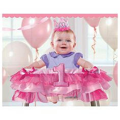 "1st Birthday Pink Tutu 37 inch High Chair Party Decoration - Costume Super Center - Toys ""R"" Us"
