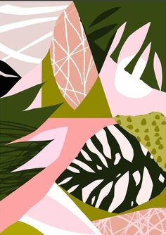 Jungle leaves and pink hues. For more, visit houseandleisure.co.za
