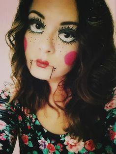 Marionette doll #Halloween #halloween2016 #facepaint #halloweenmakeupideas