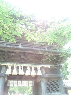 In shinto(Japan's original religion), people believe ther are spirits in nature and worship natural things, such as waterfalls, rocks, mountain, and trees.