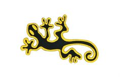 """Back Patch Golden Gecko Embroidered Iron On Large Salamander Reptile Animals Supplies Big Size 6"""" x 9"""" Patches For Vest Jacket Jersey Hoodie Shirt and so on -- Awesome products selected by Anna Churchill"""