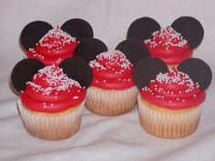 Disney Minnie Mouse Birthday Cake and Cupcakes