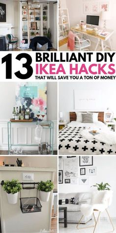 WOW, these IKEA HACKS are GENIUS. I wish I found them earlier. I have now transformed my master bedroom with Ikea bedroom hacks on a very small budget! I have even used these hacks to transform my Ikea dresser and am starting on my living room! I will definitely save this for later so I can refer back to it! Number 4 was my FAVORITE Ikea hack!!