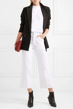 J Brand | Joan cropped high-rise flared jeans | NET-A-PORTER.COM