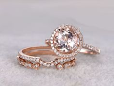 Morganite Engagement Ring White Gold in BBBGEM,see our morganite bridal ring set in 14/18k gold with round,oval,cushion,princess,emerald cut,pear shapes.